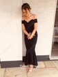 Trumpet/Mermaid Off-the-shoulder Asymmetrical Draped Prom Dresses
