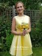 Short/Mini Open Back A-line Satin Tulle Bow Gorgeous Bridesmaid Dresses