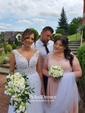 Sweetheart Sage Chiffon Sweep Train Ruffles Famous Bridesmaid Dress