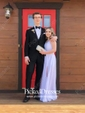 A-line V-neck Chiffon Ankle-length with Split Front Bridesmaid Dresses