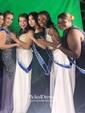 A-line Scoop Neck Satin Floor-length Beading Prom Dresses