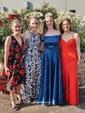 Princess Off-the-shoulder Sweep Train Satin Pockets Prom Dresses