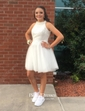 A-line High Neck Tulle Short/Mini Prom Dresses