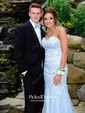 Sparkly Trumpet/Mermaid Sweetheart Tulle with Beading Sweep Train Prom Dresses
