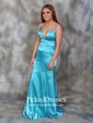 Trumpet/Mermaid V-neck Sweep Train Prom Dresses