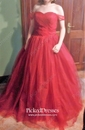 Sweetheart Ivory Tulle Ruffles Chapel Train Inexpensive Wedding Dresses