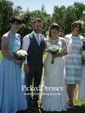 New A-line Royal Blue Chiffon Ruffles Halter Bridesmaid Dresses