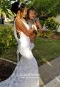 Lace Trumpet/Mermaid V-neck Sweep Train Appliques Lace Wedding Dresses